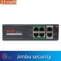 Jtoeb H1064PL 6 Port 10/100M Standard PoE Switch. PoE power 30w ong transmission distance at 250 meters