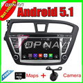 8''Quad Core Android 5.1 Car Radio GPS For Hyundai I20 2014-2015 With DVD Stereo Multimedia Mirror Link 16GB FLash Free Shipping
