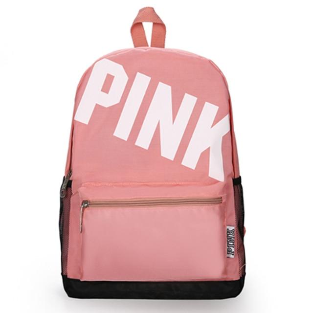 2018 mochilas escolares Férias da Praia do Verão carta saco Zipper Ombro mochila Tote amor rosa saco de escola para a menina