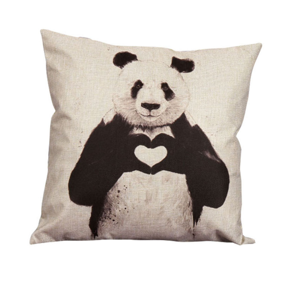 ᗜ LjഃMode Nouveau kungfu Panda Coussin Creative Mode Linge Taie d ... 3c06fb61b0f3