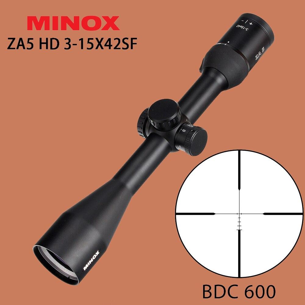 Минокс за HD 3-15x42SF Охота прицел BDC 600 провода сетка боковые Параллакс Сфера тактический оптика Зрение для страйкбол