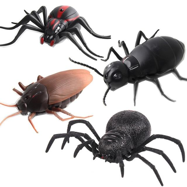 عالية محاكاة الحيوان الصرصور العنكبوت النمل الأشعة تحت الحمراء جهاز التحكم عن بعد مضحك المزحة واقعية الحشرات الأفعى الاطفال الكبار نكت اللعب