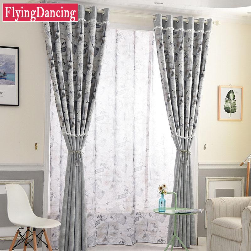 lino cortinas para la sala de estar dormitorio cortina de la ventana del panel de tamao