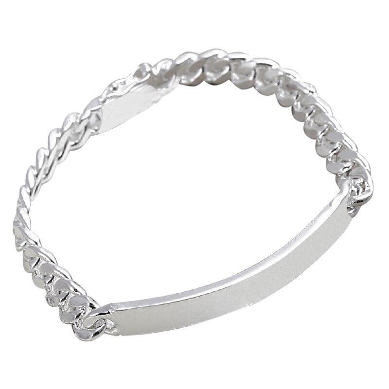 Silvering bracelet font b fashion b font font b jewelry b font Cow Leather Bracelet length