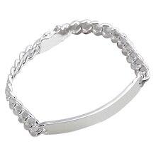 Silvering bracelet, fashion jewelry Cow Leather Bracelet length 20cm