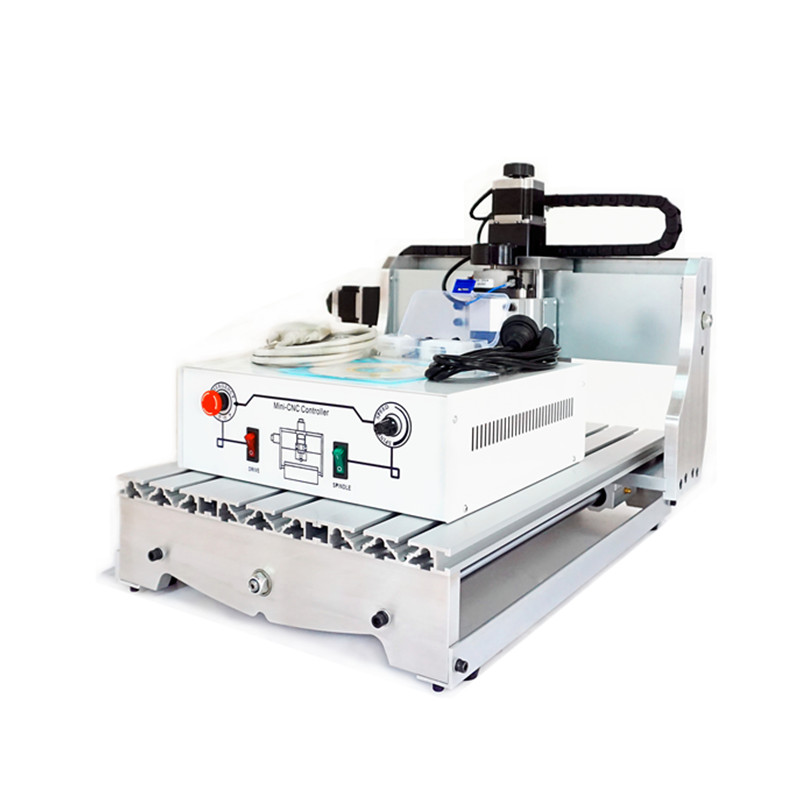 ship to russia no tax CNC milling machine 4030 T-D300 4axis 3040 cnc router engraving machine for DIY no tax ship from factory new release diy 3040t cnc frame for 3040 cnc router with trapezoidal screw for milling machine frame