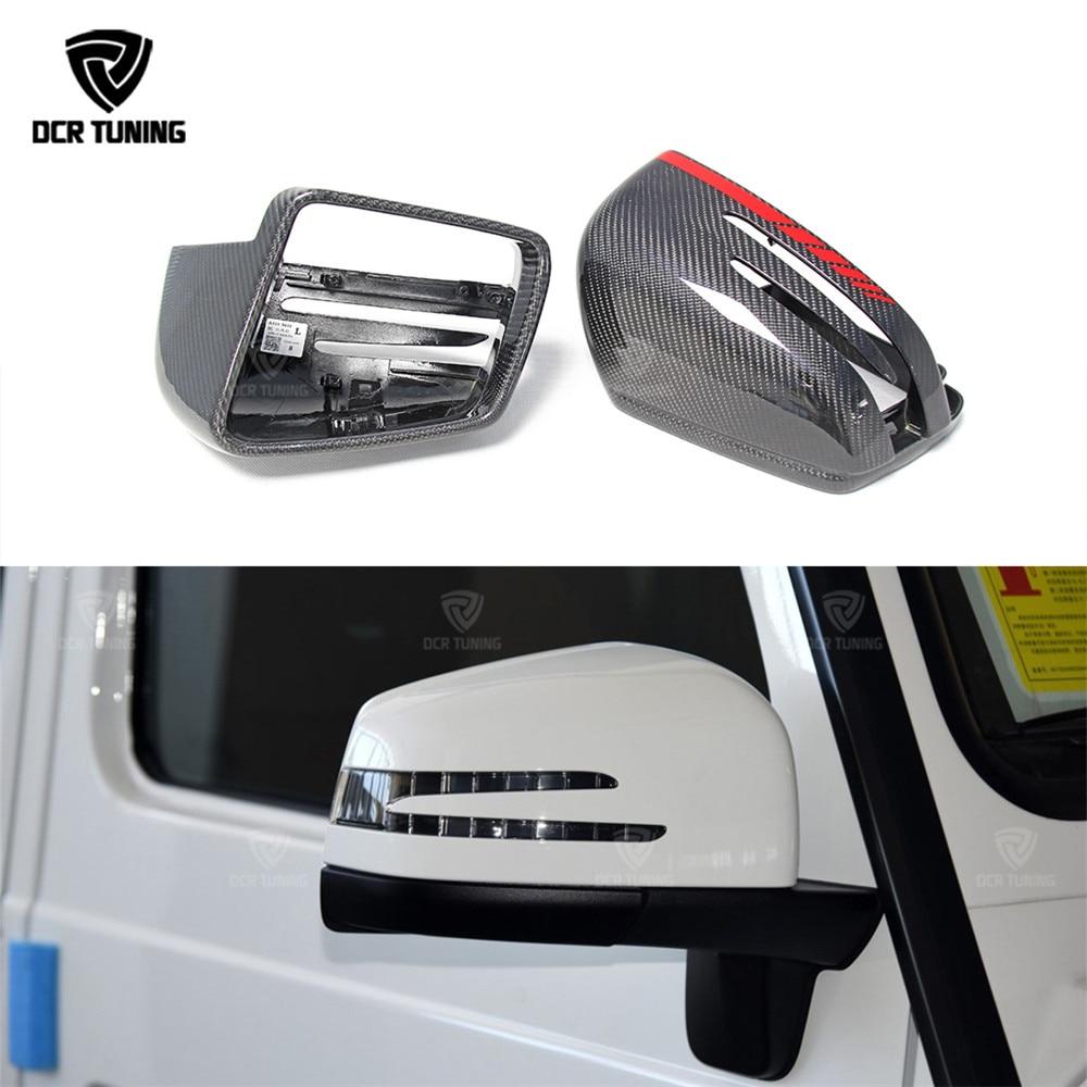 For Mercedes G Class Carbon Fiber Mirror Cover Amg G55 G63 W463 GL GLE 43 63 M Class W166 X166 Carbon Fiber side caps