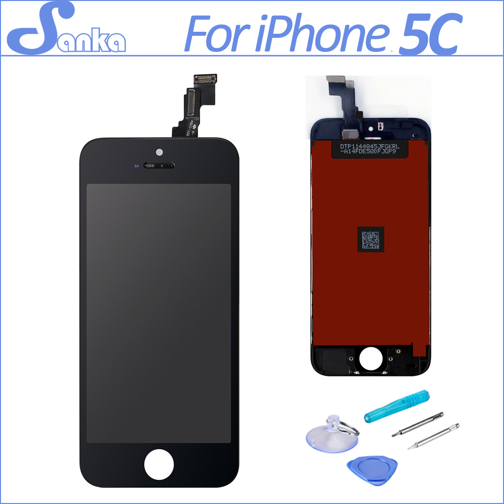 SANKA LCD for iPhone 5C LCD Touch Screen Display Digitizer Front Glass Ecran Pantalla 5C LCD AAA Replacement Assembly Black