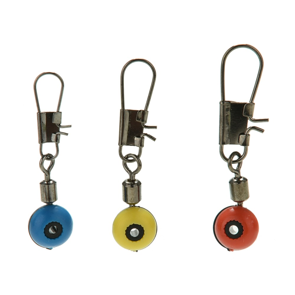 20pcs 3 Colors 3 Sizes Fishing Line Swivels Connector To