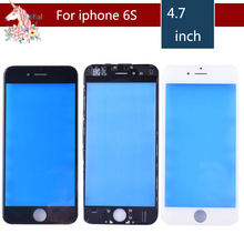 10pcs/lot For iPhone 6S Touch Screen Digitizer Lens Front glass LCD panel with frame bezel for iphone6S LCD External GLASS цена в Москве и Питере