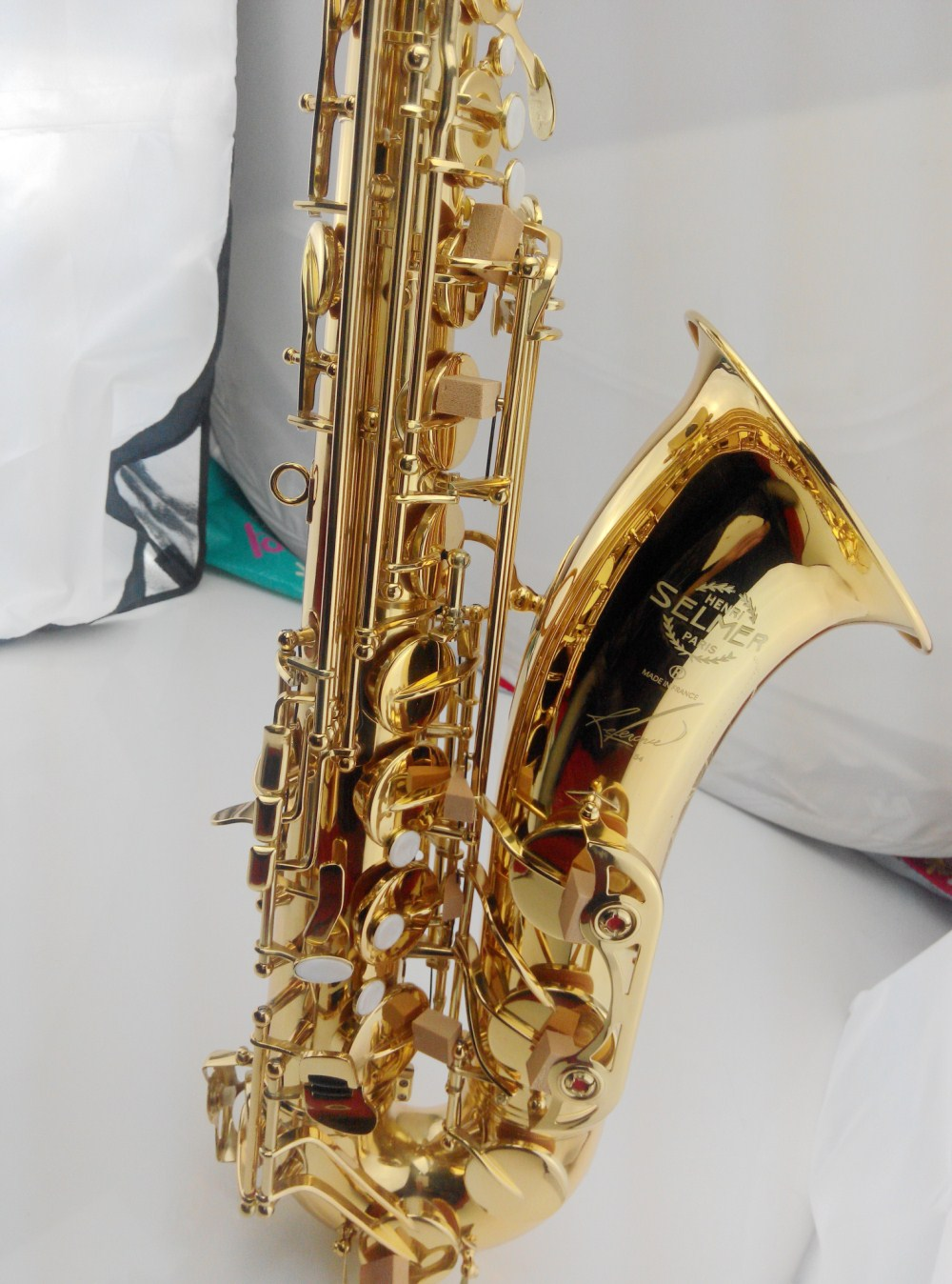 Hot France Selmer 54 B flat Sax Tenor saxophone high-grade gold Tenor music quality assurance free shipping france henri selmer bb tenor saxophone instruments reference 36 drop b saxophone surface gold lacquer pink body professional sax