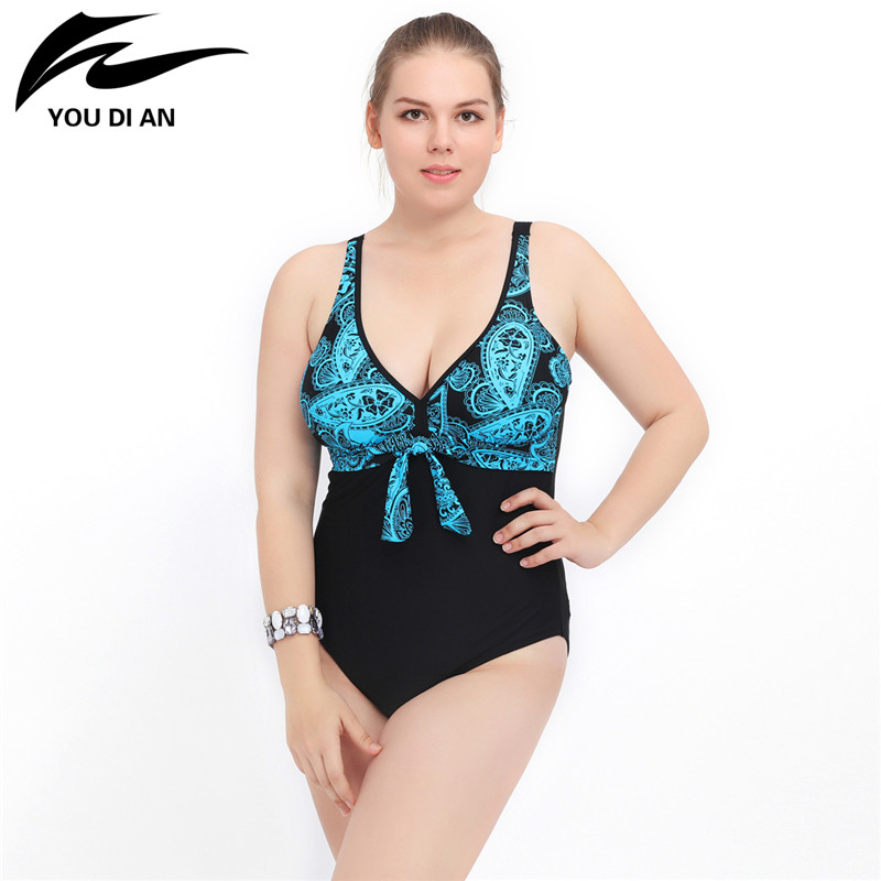 2017 Summer Plus Size Swimwear Women Sexy One Piece Swimsuit Push Up Bathing Suit Women Large Size Beach Swim wear 2017 plus size swimwear women swimming dress sexy large one piece swimsuit push up beach dress patchwork bathing suit