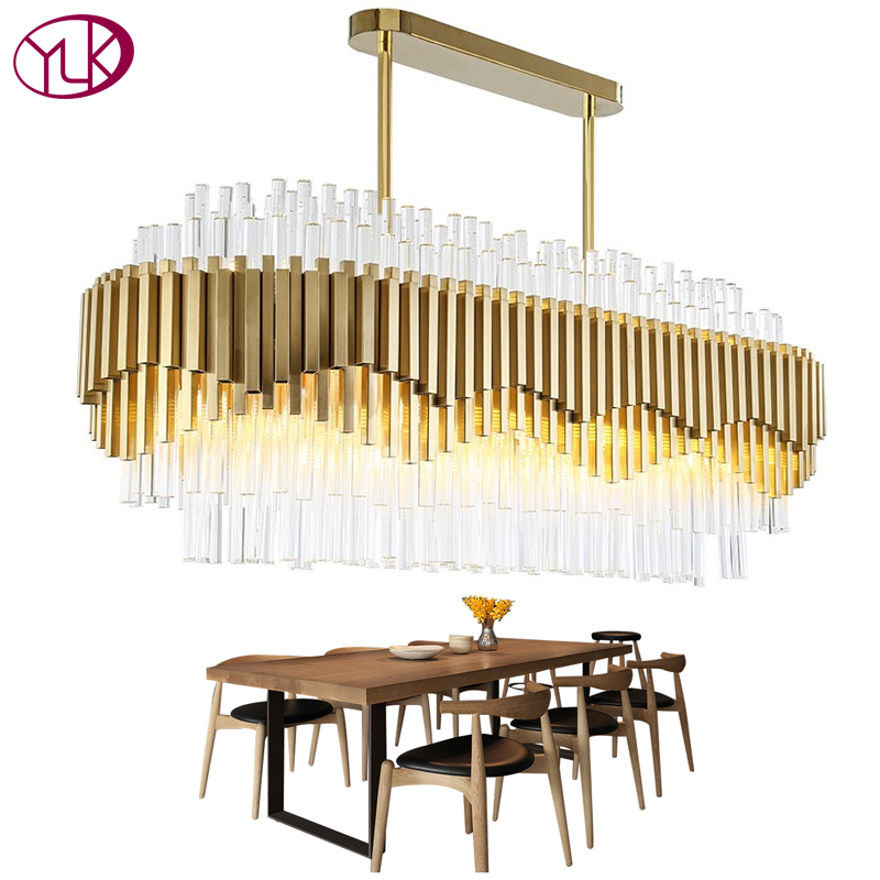 Youlaike Luxury Chandelier Lighting For Dining Room Modern LED Crystal Light Fixtures Large Home Decor Lustres