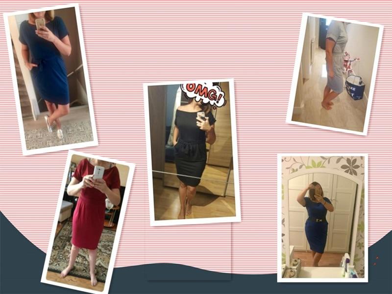19 New Summer Fashion Women Casual Short Sleeve O-Neck Straight Black Gray Blue Dress Loose Plus Size Pocket Cotton Midi Dress 4