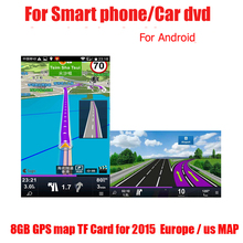 gps maps 8G TF card(sygic) 2016 Map for Android car gps navigation map Europe/Russia/USA/CA/AU/Israel Car gps map accessories