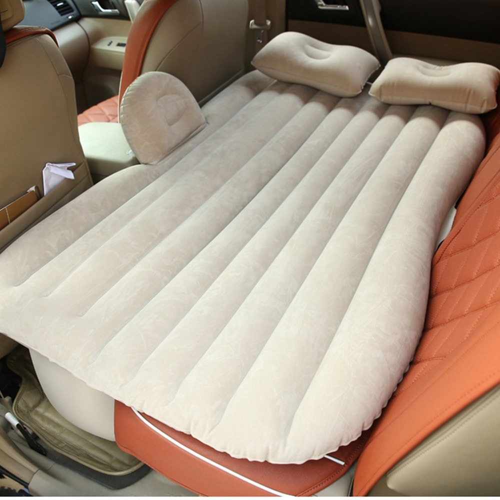 Large Size Inflatable Mattress Air Bed Durable Car Back Seat Cover Car Air Mattress Travel Bed Moisture-proof for Car Interior durable thicken pvc car travel inflatable bed automotive air mattress camping mat with air pump