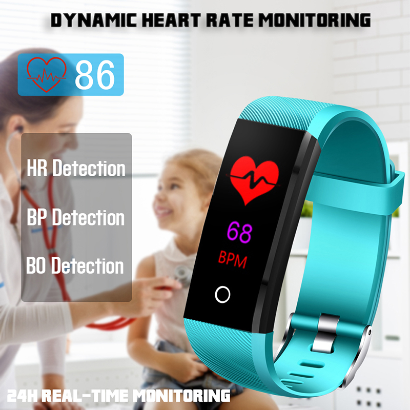 LIGE 2019 New Smart Sport Watch IP67 Waterproof Fitness Watch Blood Pressure Heart Rate Monitor Pedometer Watch Women Band in Smart Wristbands from Consumer Electronics