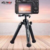Viltrox VX T60 9.6 24.4 Mini Portable Adjustable Travel Camera Table Tripod+ Ball Head For Sony A9 A7III Canon M5 Nikon DSLR