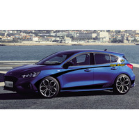 World Datong Sport Stripes Car Stickers For Ford 2019 Focus ST RS Both side body sport auto stickers