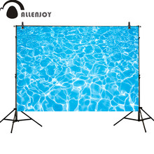 Allenjoy photography backdrops party summer blue swimming pool water ripple Birthday photocall customize newborn(China)