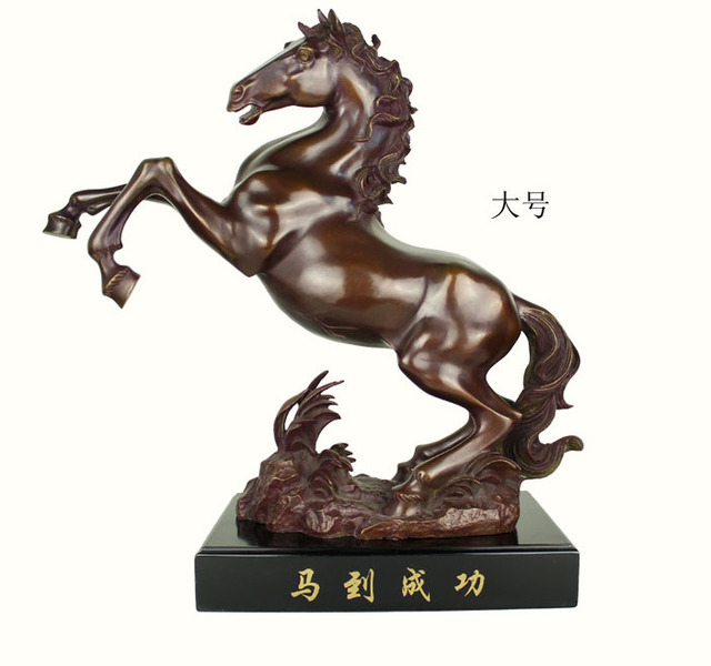 Success Immediately Upon Arrival Large Top Collection Home Decor Bronze Horse Statue Decoration