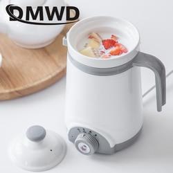DMWD Mini automatyczne elektryczne czajnik kocioł ceramika zupa gulasz owsianka wolnowar podgrzewacz mleka ciepłej wody podgrzewany kubek garnek zdrowia w Wolnowary od AGD na
