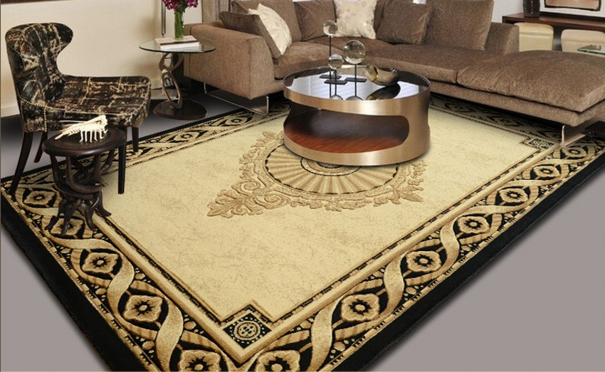 Tapis mixte grande taille tapis persan bureau chambre simple motif