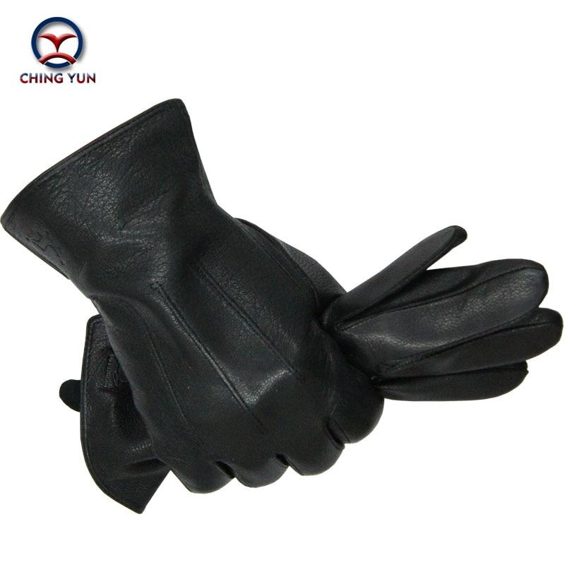 2016 New Winter man deer skin leather glovess