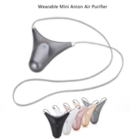 USB Personal Mini Air Refresher Portable Wearable Mini Anion Air Purifier Ionizer Negative Ion Generator Necklace Air Cleaner