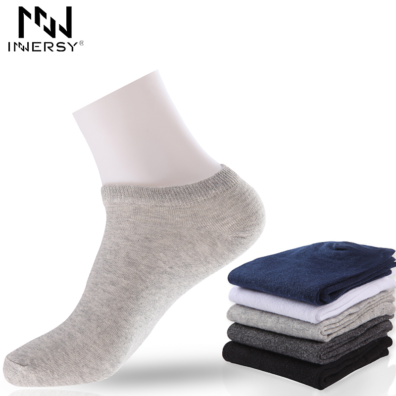 Innersy 2017 Brand 5Pcs/lot Socks Thin Socks Short Deodorize Socks Cotton Boys Socks Casual Wear Colorful Stocking Pattern Men