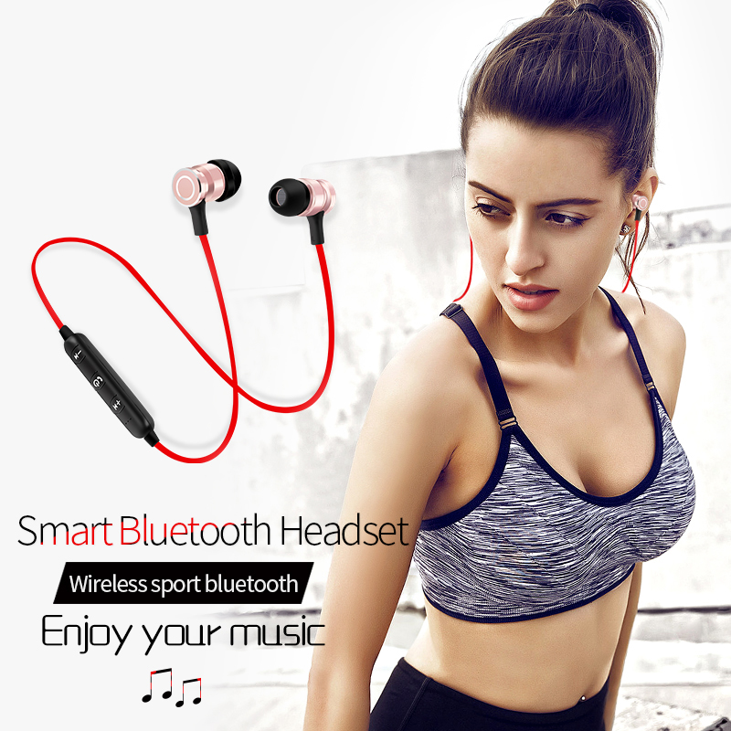S6 Bluetooth Headset Metal Magnetic Wireless Stereo Headphones with Mic Sport Running Apt-X HD Music  earphone for xiaomi iphone s9 original sport wireless bluetooth headset handsfree earphones running stereo headphones for iphone xiaomi huawei 6 7 earphone