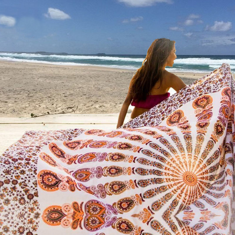 Rectangle Mandala Indian Hippie Boho Tapestry Beach Picnic Throw Towel Mat Home Decor