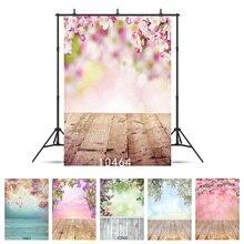 Frühling Ostern Tag Fotografie Hintergrund Blume Bokeh Wand Holz Boden Vinyl Hintergrund Studio Foto für Kinder Neugeborenen Photo