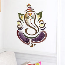 Wall Decals Ganesh Elephant Yoga Studio Wall Stickers Home Decor Vinyl Sticker Bedroom Living room Decoration(China)