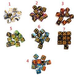 10 шт./компл. шестигранники 12 мм игральные кости прозрачный кубик круглые кости портативные настольные игры