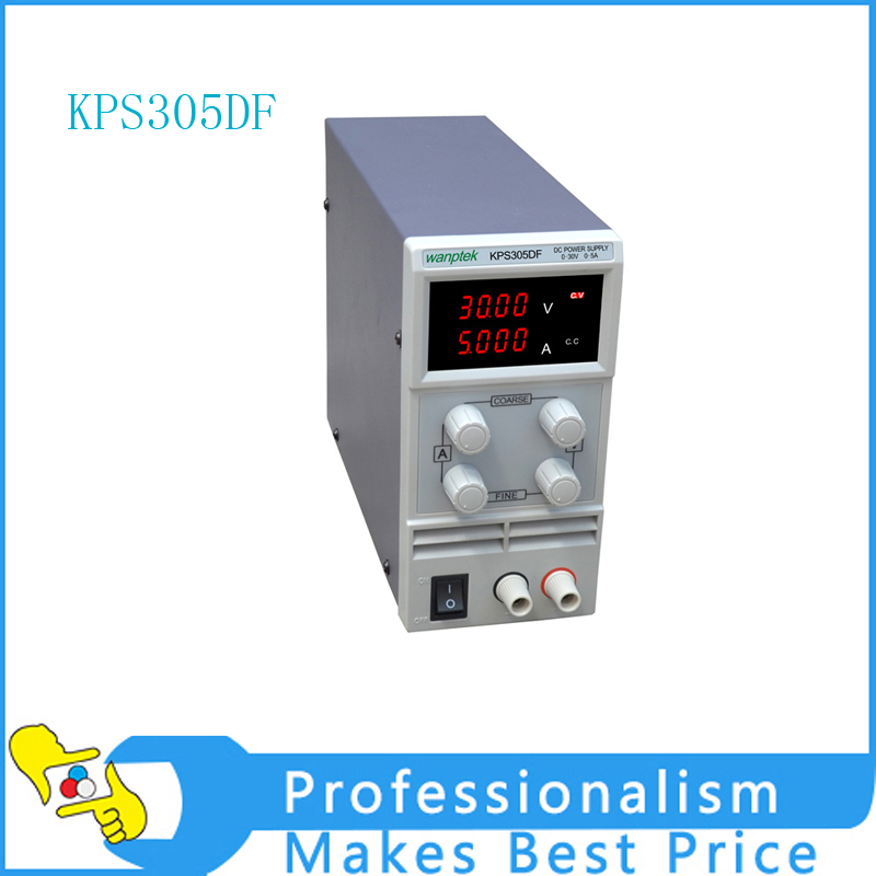 KPS305DF 0-30V/0-5A 110V-230V 0.1V/0.001A EU LED Digital Adjustable Switch DC Power Supply mA display 30v 5a dc regulated power high precision adjustable supply switch power supply maintenance protection function kps305df