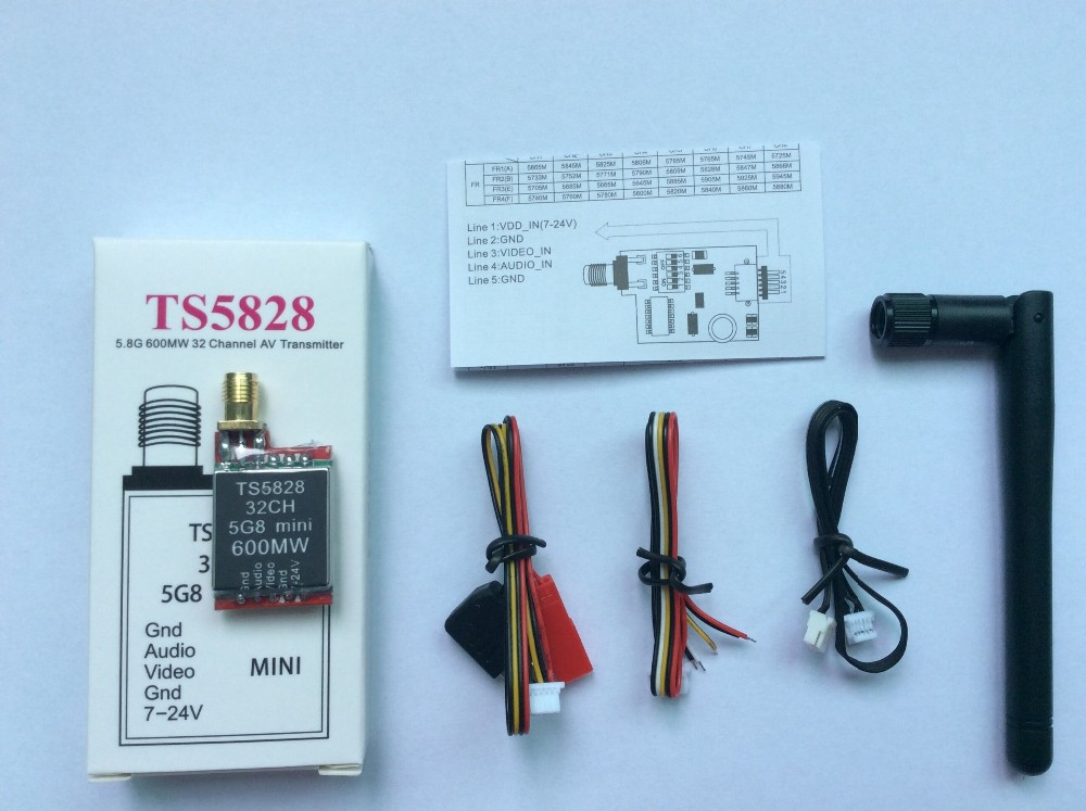 F15986 FPV 5.8GHz 600mW 32 Channels Mini Wireless A/V Transmitting (TX) Module TS5828 RP-SMA for 5.8g receiver  gopro skyzone fpv 5 8ghz 1500mw 32ch a v transmitting tx module ts800 rp sma