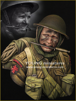 1/10 resin figure bust model movie World War II military theme British special forces package X14