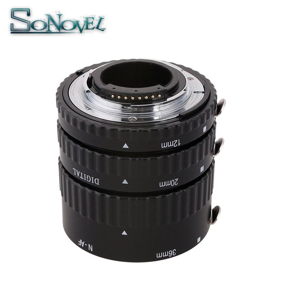 Meike Auto Focus métal AF Macro Extension Tube ensemble pour Nikon D7500 D5600 D5300 D3300 D850 D810 D800 D750 D500 D5 D4S DSLR caméra