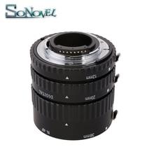 マイクスオートフォーカスメタルafマクロ延長チューブセット用ニコンd7500 d5600 d5300 d3300 d850 d810 d800 d750 d500 d5 d4sデジタル一眼レフカメラ