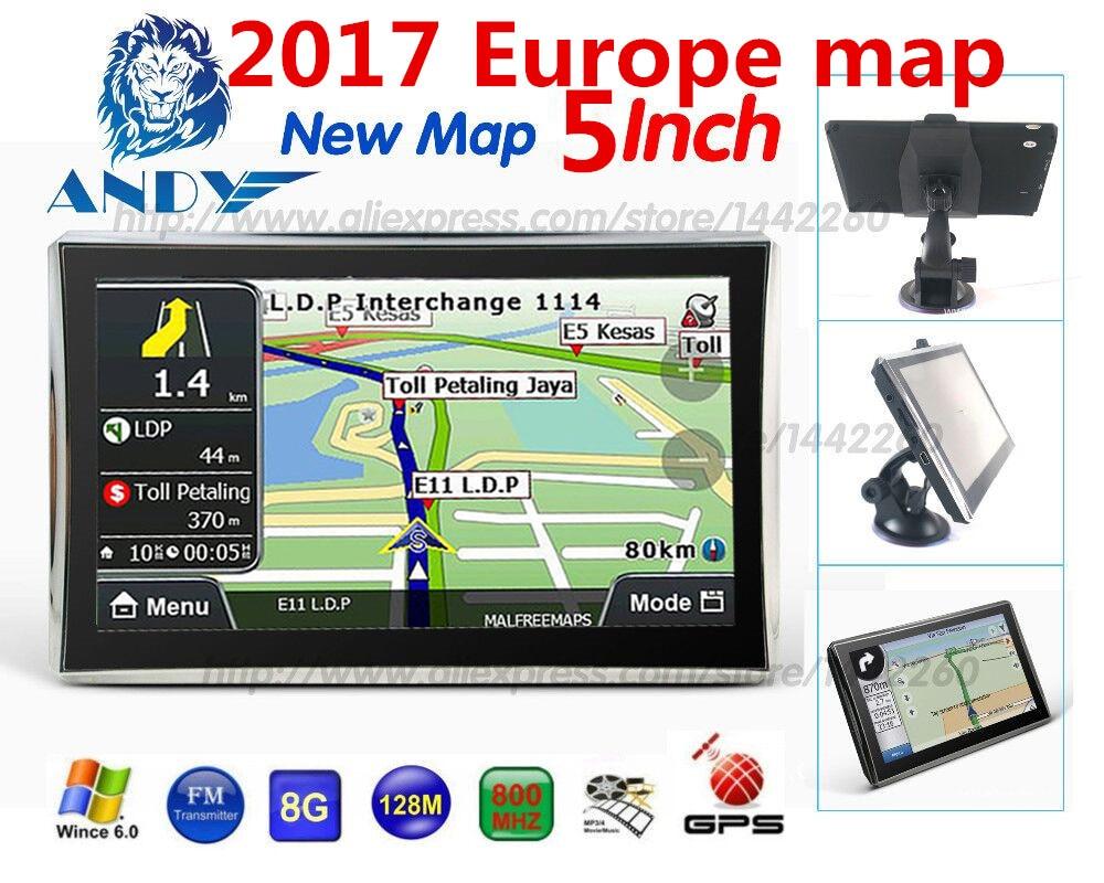oriana car gps navigation 5 inch touchscreen navigator 128mb 8gb sat nav mp3 fm europe map. Black Bedroom Furniture Sets. Home Design Ideas