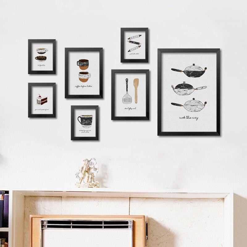 Dapur Makanan Poster Dan Cetakan Dinding Seni Kanvas Lukisan Gambar Untuk Ruang Tamu Cuadros Nordic No Bingkai Di Painting Calligraphy Dari