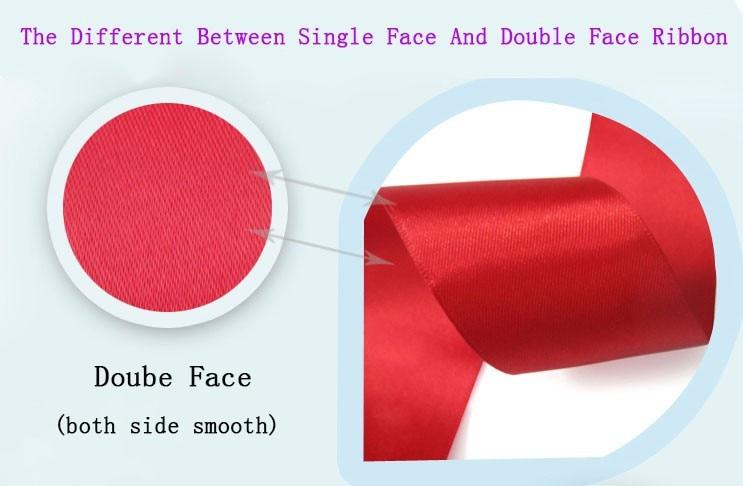 "[IuBuFiGo] 1-1/""(28 мм) Double Face Атласная Лента Упаковочная Атлас 100 Двор/рулон"