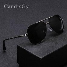 Candisgy, поляризационные солнцезащитные очки, фирменный дизайн, классические, мужские, пилот, зеркальные, солнцезащитные очки, модные, UV400, зеркальные, хипстерские, мужские, YN28, с коробкой