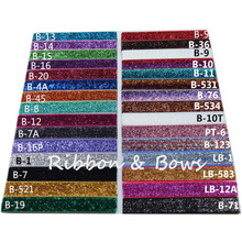 "30 Colors Available 5 yards per color 5/8"" glitter elastic FOE headbands hair Elastic webbing DIY elastic material Supply"