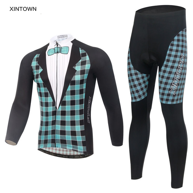2016 Gentlemen style Cycling Clothing Roupa Ciclismo/Long Sleeve Winter Bicycle Clothes Cycling Jersey sets/Bike Sportswear men thermal long sleeve cycling sets cycling jackets outdoor warm sport bicycle bike jersey clothes ropa ciclismo 4 size