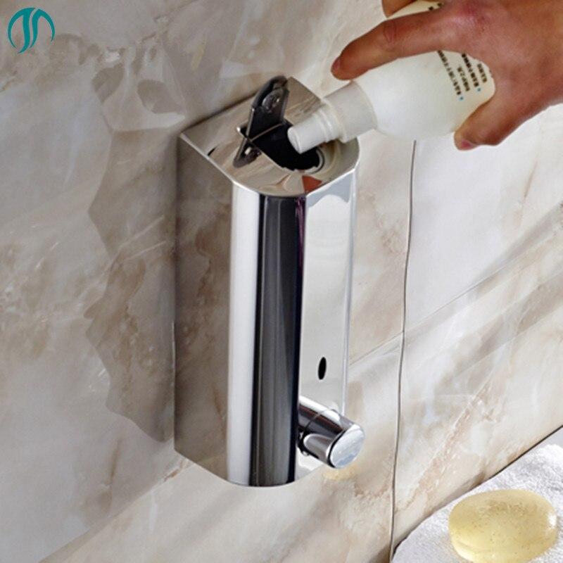 500mlX3 Mural Boîte à Savon Désinfectant pour Les Mains Bouteille de Shampoing Hôtel Savon De Bain D'hôtel De Distributeur de Liquide En Acier Inoxydable Maison Distributeur