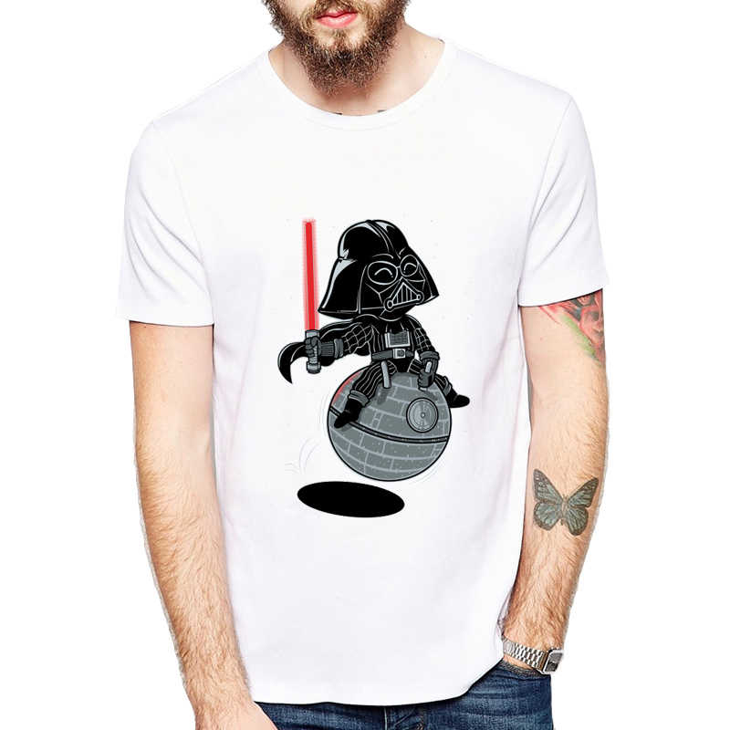Bouncy Star T Shirts Man Normal Summer T-shirts Star Wars Darth-v Short 02a9ccc10