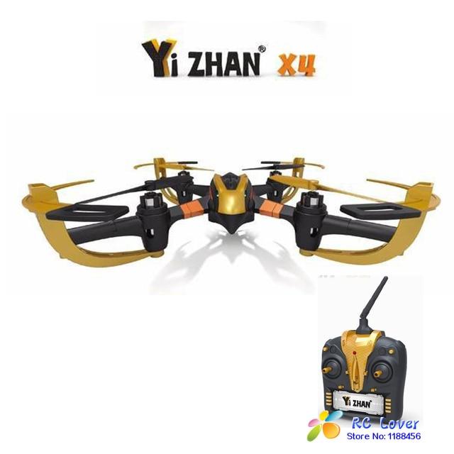Nueva llegada Original YIZHAN 58010-a X4 ( con LCD Control remoto ) 6-CH 2.4 GHz RC Quadcopter del UFO con 6-Axis Gyro RTF helicóptero RC