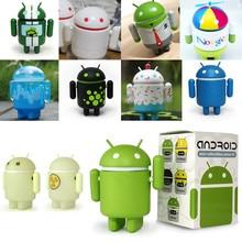 Серия 02 синий белый кекс пчела зеленый робот фигурка Мини Коллекционная талисман винил ПВХ для любителей Android дублирование